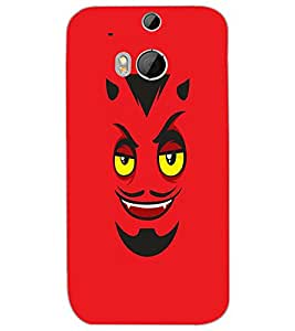 HTC ONE M8S DEVIL SMILE Back Cover by PRINTSWAG