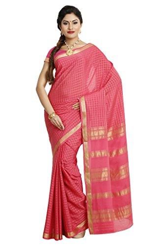 Kaushika Sarees Pure Crepe Traditional Mysore Silk Gajri Saree