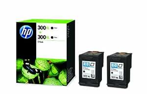 HP 300XL - 2-pack Black Original Ink Cartridges (D8J43AE)