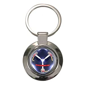 Chunky Circle Keyring Flux Capacitor design