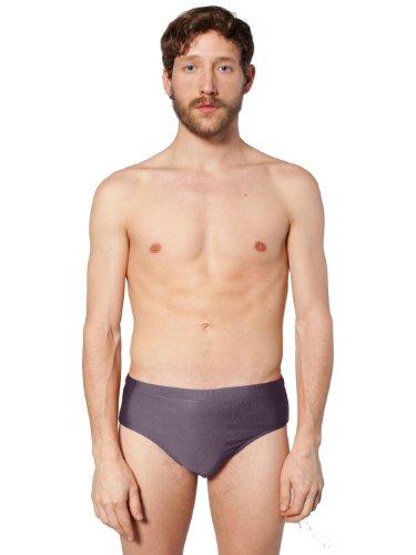 American Apparel Nylon Tricot Men's Swim Brief - Charcoal / L