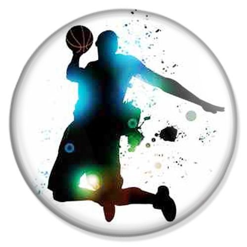 Button Basketball Slam Dunk - Sport Badge, Sport Pin, Sport Anstecker, Sport Button, Sport Ansteckpin
