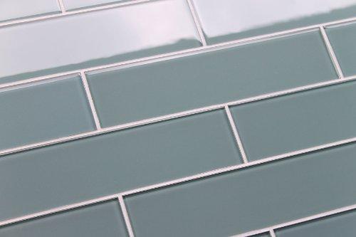 Tile Ceramic Subway Tile Color Sample Of Arctic 3x12 Blue Gray Glass