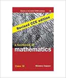 A Textbook of Mathematics 10 (CCE Edition) price comparison at Flipkart, Amazon, Crossword, Uread, Bookadda, Landmark, Homeshop18