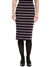 M&S Collection Feeder Striped Tube Pencil Skirt