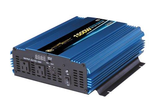 Power Bright PW1500-12 Power Inverter 1500 Watt 12 Volt DC To 110 Volt AC (12 Volt Ac Dc Microwave compare prices)