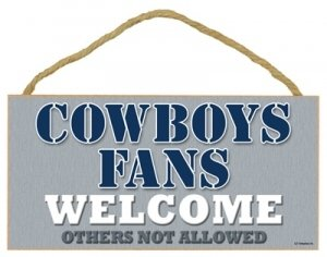 Dallas Cowboys Small Wood Welcome Sign at Amazon.com