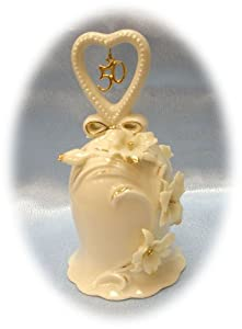 Appletree Design 50th Anniversary Ivory Orchid Bell, 5-Inch Tall, Includes Clapper
