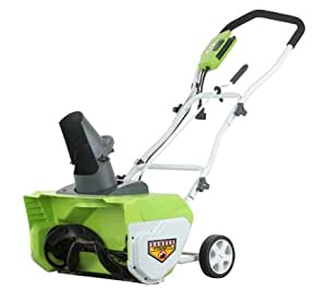 """GreenWorks 26032 12 Amp 20"""" Corded Snow Thrower"""