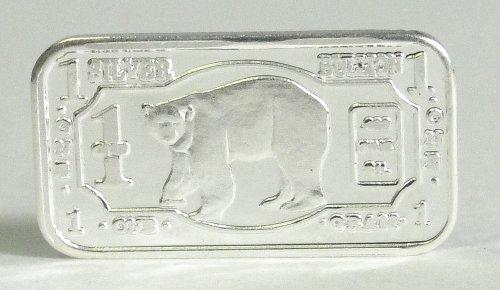 (3) 1 Gram .999 Pure Fine Solid Silver Polar Bear '2013 Endangered Animals Series-antartica' Bullion Ingot Coin