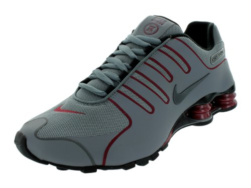 Nike Nike Men's NIKE SHOX NZ NS RUNNING SHOES 10 Men US (COOL GREY/DARK GREY/BLK/TM RD)