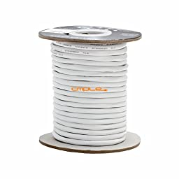 Cmple - 12AWG CL2 Rated 2-Conductor Speaker Cable - 100ft For In-Wall Install.