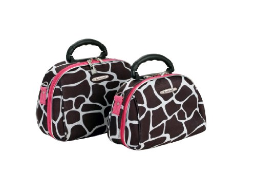 rockland-luggage-rockland-2-piece-cosmetic-set-pink-giraffe-one-size
