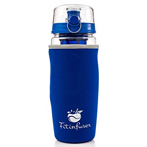 Royal Blue Fitinfuser Fruit Flavor Infuser Water Bottles