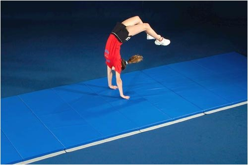 Mancino 4x8 ROYAL BLUE Gymnastics Mat- FREE SHIPPING