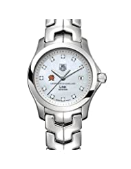 On Sale University of Maryland Women's TAG Heuer Link Watch with Mother of Pearl Diamond Dial Deals