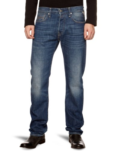 Replay Jennon Straight Men's Jeans Night Blue 28W x 34L