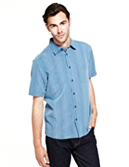 Modal Blend Dobby Striped Shirt