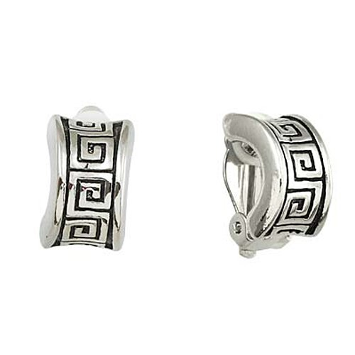 Silvertone Cuff Clip-On Earrings Fashion Jewelry
