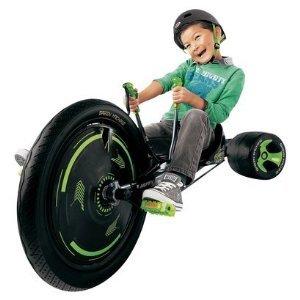 "Huffy Boy's ブラック Out グリーン マシーン 20"" Trike - Black/Green"