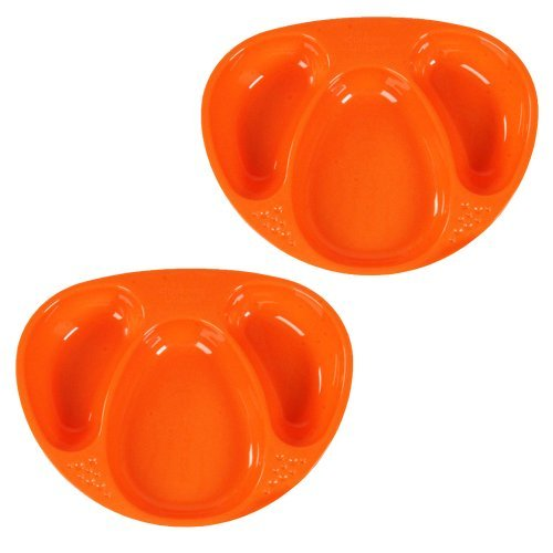 Tommee Tippee Explora Section Plates - Blue/Green/Orange - 2 ct - 1
