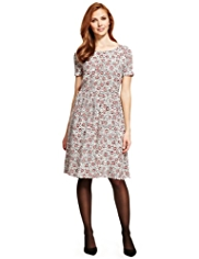 M&S Collection Pansy Print Skater Dress