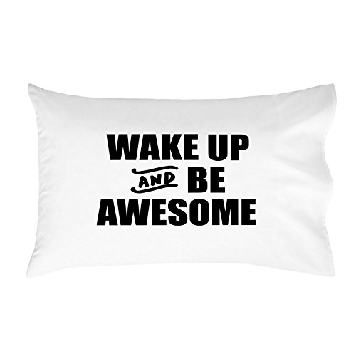 Oh, Susannah Wake up and Be Awesome Toddler Size Pillowcase (1 Pillow Cover 14 x 20.5 Inches)