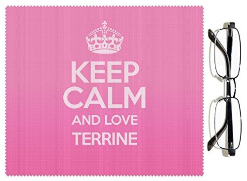 Rose Keep Calm and Love Terrine Chiffon pour lentille couleur 3072