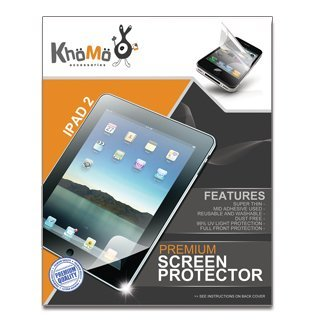 KHOMO 3 Pack Anti-Glare Invisible Screen Film Protector for Apple iPad 2 (EST VERSION March 2011 release) from KHOMO