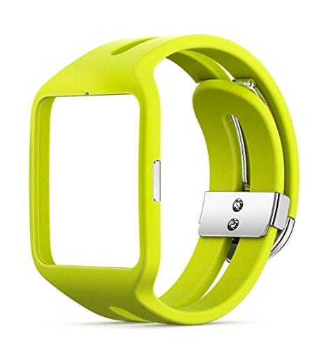 Sony Mobile SWR510YL Bracelet de Remplacement Sport pour Sony SmartWatch 3 - Jaune