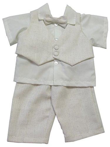 Effetto lino, gilet, camicia, pantaloni e papillon cream , beige 18 - 24 mesi