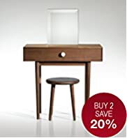 Conran Starley Dressing Table, Stool & Mirror Set