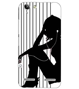 PrintDhaba MUSIC LOVER D-6650 Back Case Cover for LENOVO A6020a46 (Multi-Coloured)