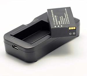 QUMOX @ 3.7V Li-ion Battery & Charger Ladeger?t for SJ1000 SJ 1000 Sport Kamera Batterie Akkus