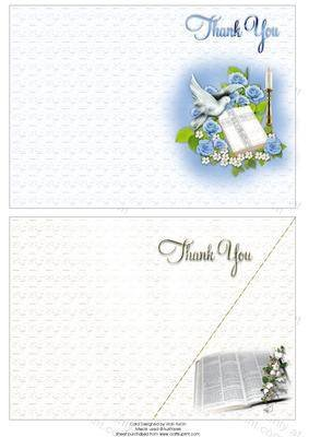 Blaue Rosen und Bibel und Bibel religiöse Thank You Haftnotizen von Vicki Avcin