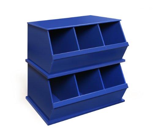 Imagen de Badger Basket Tres Storage Bin Cubby, Azul