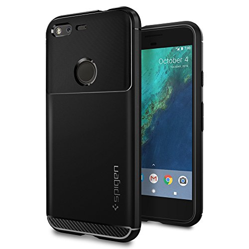 Spigen-Rugged-Armor-Google-Pixel-Case-with-Resilient-Shock-Absorption-and-Carbon-Fiber-Design-for-Google-Pixel-2016-Black
