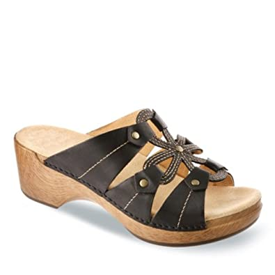 Dansko Womens Serena Waxy Black sandals US EU 41 US 10.5-11 NIB