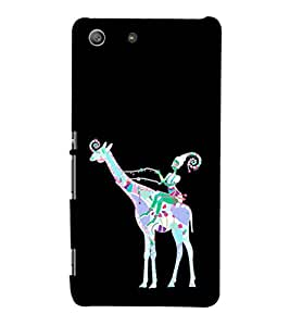 EPICCASE girl riding giraffe Mobile Back Case Cover For Sony Xperia M5 (Designer Case)