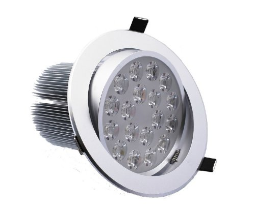 Domire Silvery Led Warm White 18W Recess Downlight Ceiling Lamp Replace 130W Incandescent Bulb Energy Efficient Lights