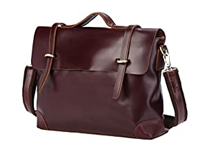 Genuine Leather Business Laptop Briefcase Handbag Casual Messenger Bag For Mens
