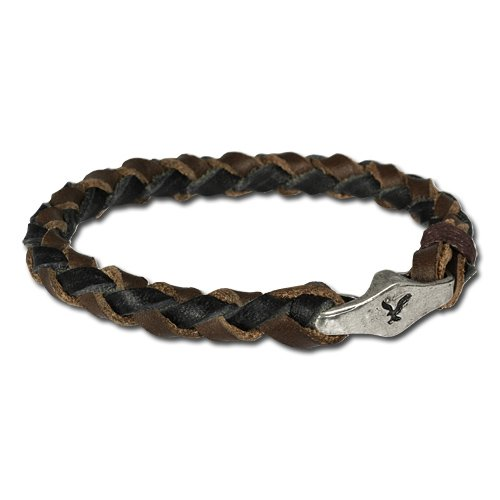 SilberDream Leather Bracelet with metal closure fits all sizes up to 8'' Women / Men Leather Bracelets genuine Leather LA0050B