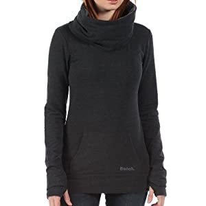 Bench Damen Sweatshirt Oatlands, Dark Grey Marl, XS, BLEA3371_GY006X