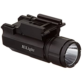 Aimkon HiLight P10S 500 Lumen Pistol LED Strobe Flashlight with Weaver Quick Release for Glock Series, Sig Sauer, Smith & Wesson, Springfield, Beretta, Ruger, and Heckler & Koch, etc.