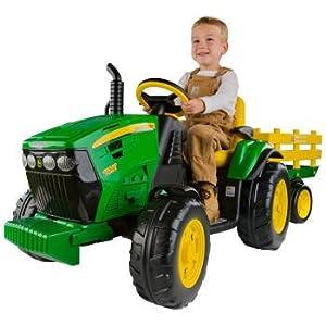 Peg Perego OR0047 John Deere - Tractor eléctrico con remolque, 12V