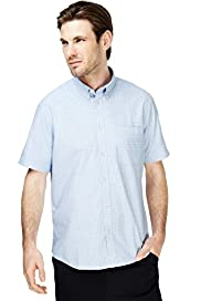 Button-Down Collar Checked Shirt