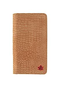 99 Maple pu leather Wallet Flip Pouch Case for Micromax Canvas Silver 5