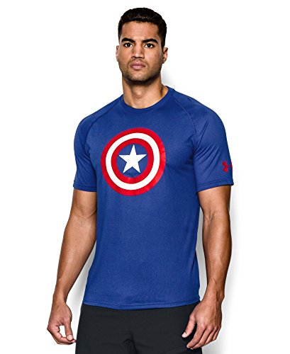 Under Armour Men's Alter Ego Captain America Core T-Shirt Small Royal