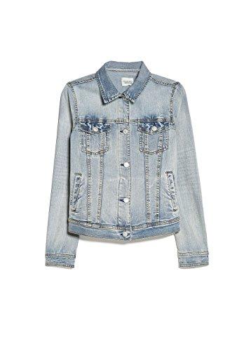Mango Women'S Light Denim Jacket, Light Denim, M