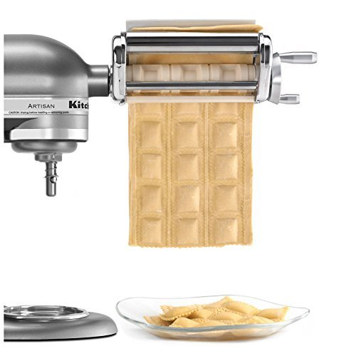 New KitchenAid KRAV Ravioli Maker Mixer Attachment (Kitchenaid Pasta Maker Attachment compare prices)